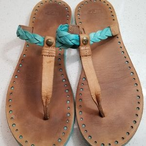 UGG Tutquoise leather sandals